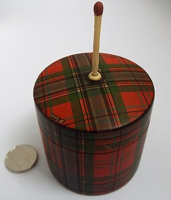 SUPERB RARE ANTIQUE 19TH CENTURY VICTORIAN c1880 TARTAN WARE VESTA & GO TO BED