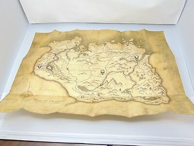 The Elder Scrolls V Skyrim Parchment Map found in the game case GM1399