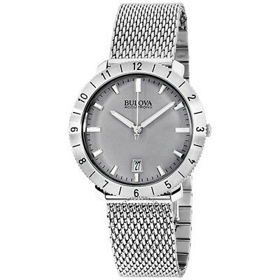 Bulova Men's Moonview Quartz S Steel  Silver S Steel  Band Watch ACC-96B206