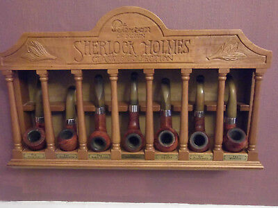 collection complete Sherlock Holmes Classic des 7 pipes Peterson avec rack