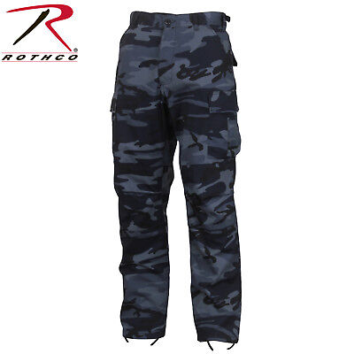 Rothco Midnight Blue Camo Tactical BDU Pants - Mens Military Style Cargo  Fatigue c1149a59425