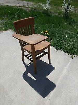 Antique Tiger Oak Wooden School Desk And Attached Chair