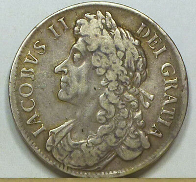 Great Britain Crown 1686 About Very Fine