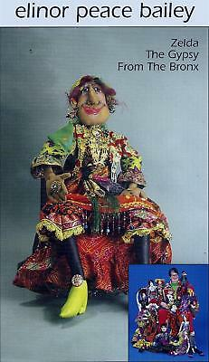Zelda The Gypsy soft sculpture doll making sewing pattern Elinor Peace Bailey