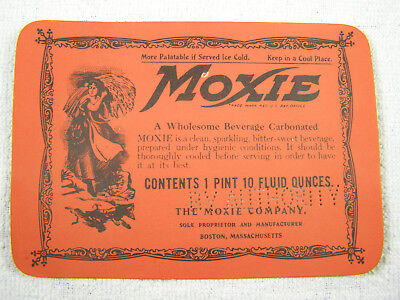 Early MOXIE 1 Pint Syrup Label - Unused
