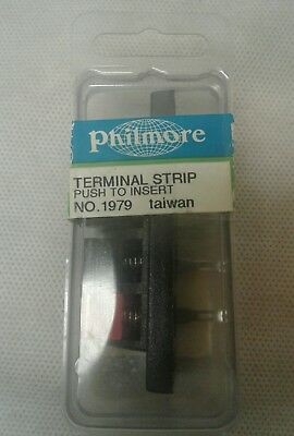 PHILMORE - 4-Pole Speaker Terminal Strip - 1979 *NOS*