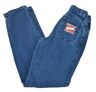 Vtg CHIC KIDS Girls Dark Blue Denim Blue Jeans 14 Slim USA Made