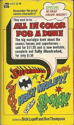 All In Color for a Dime   by Dick Lupoff and Don Thompson  Ace PB 1970