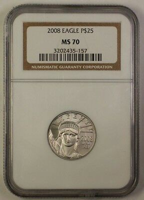 2008 American Platinum Eagle APE $25 Coin NGC MS-70 Perfect Coin JW