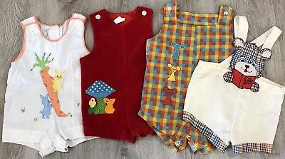 Baby Boys Big True Vintage Romper Lot 12 Months 6 9 12 One Piece Adorable!