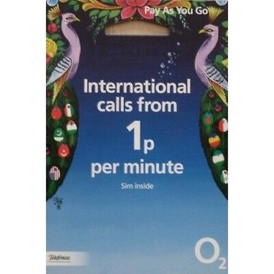 O2 International Sim Card Pay As You Go Nano Micro Triple Cut 4G GSM 02 Travel