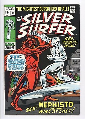 Silver Surfer #16 Vol 1 Near Perfect High Grade Mephisto Appearance