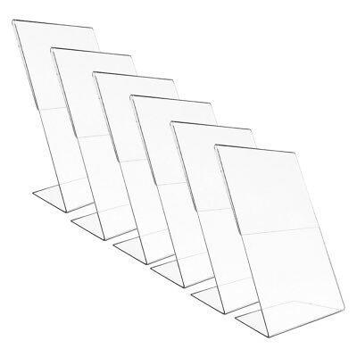 "6pk Vertical 8x10"" Acrylic Document Holder Photo Frames Sign Holder Home Office"