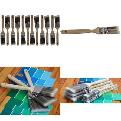 "12 Piece 1-1/2"" Angle Sash House Paint Brush Set. Professional Painters and Home"
