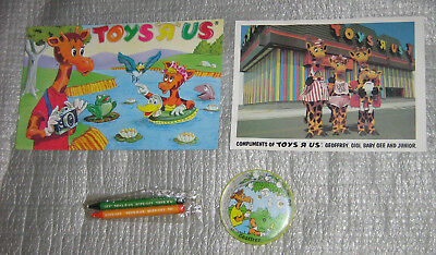 Vintage Toys R Us Geoffrey Photo Picture Coloring Book Ball Game Promo Lot Gigi