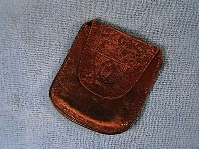 Vintage Amity Leather Coin Pouch Case Bill Fold Original Amity Goat Leather