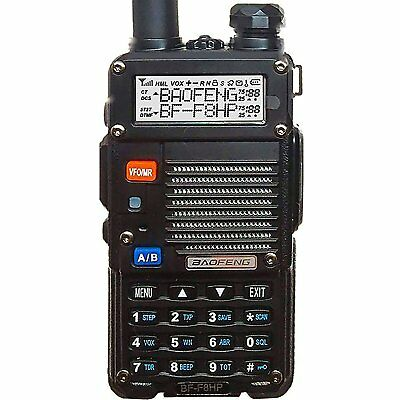 BaoFeng BF-F8HP 8W Dual Band Two-Way Radio 136-174MHz VHF && 400-520MHz UHF
