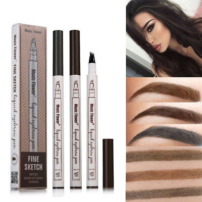 3 Style Microblading Eyebrow Tattoo Pen Waterproof Fork Tip Sketch Makeup Ink