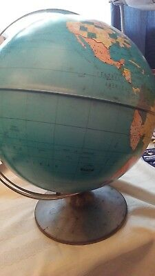 Preowned Metal World Globe Ohio Art Co. D-174,