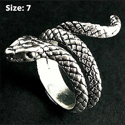 Ring 925 Solid Sterling Silver Antique Engraved Signet Design Kids Size H / 4