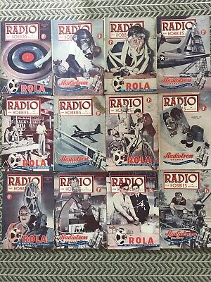 RADIO AND HOBBIES 12 Magazines 1951 Vintage Collectables
