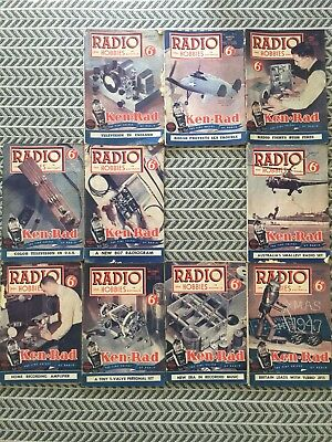 RADIO AND HOBBIES 10 Magazines 1947 Vintage Collectables
