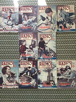 RADIO AND HOBBIES 10 Magazines 1952 Vintage Collectables