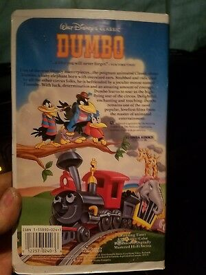 Dumbo Walt Disney's Black Diamond Classic (VHS)  Rare