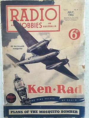 RADIO AND HOBBIES  Magazine  July 1943 Vintage Collectable