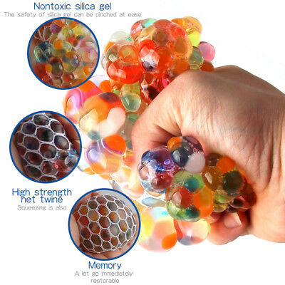 """3"""" Squishy Mesh sensory stress reliever ball toy autism squeeze anxiety fidget"""