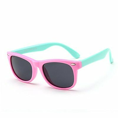 Juslink Toddler Sunglasses 100% UV Proof Baby Sunglasses for Kids Pink