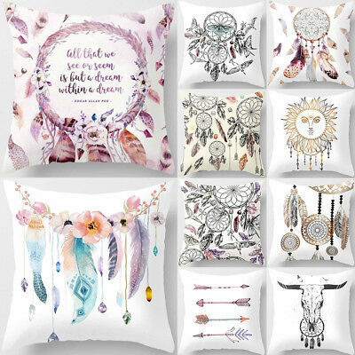Bohemia Dream Catcher Pillow Case Cushion Cover 18''x18'' Soft Home Decor Eyeful