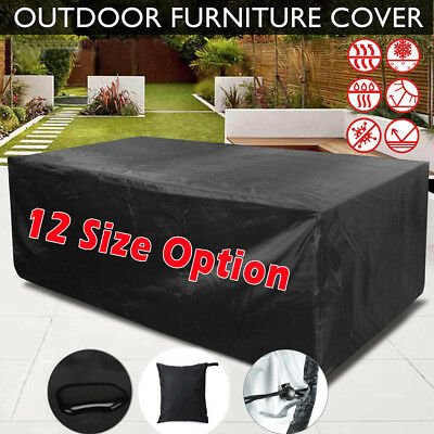 Garden Patio Furniture Cover Waterproof Rectangular Outdoor Rattan Table Cover