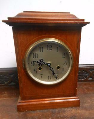 old mahogany mantel  clock,--battery movement