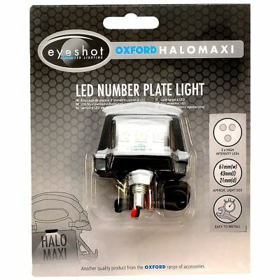 Oxford OX112 Motorcycle Motorbike Number Plate Eyeshot Halo Maxi LED Light