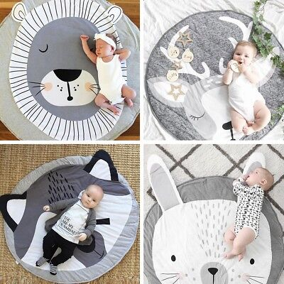 2M Newborn Infant Baby Playmat Animal Floor Crawl Gym Rug Picnic Carpet Pad AU