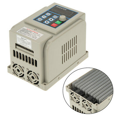 Variable Speed Frequency Drive Single-Phase/3-Phase 12A 2.2KW w/ Large Heat Sink