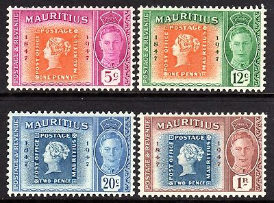 Mauritius KGVI 1948 Centenary of 1st British Colonial Stamp Set SG266-69 LM/Mint