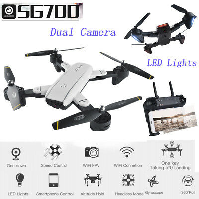 Selfie Foldable 4CH 12.0MP HD Camera LED WIFI FPV GPS RTF RC Quadcopter Drone