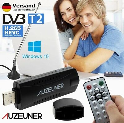 USB DVB-T2 H.265 Full HD TV Tuner Mini Digital Receiver Stick mit Antenna für PC