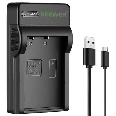 Neewer Micro USB Battery Charger for Olympus BLS-1 PS-BLS1 Fuji NP140 Battery