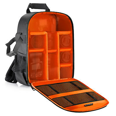 Neewer Flexible Insert Partition Protective Camera Bag Backpack Orange Interior