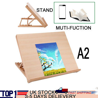 A2 Wood Drawing Board Artist Easel Picture Frame Books Support for Students Kids
