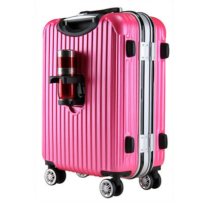"2PC SET 20"" 24"" Aluminum Frame Suitcase Travel Set Baggage Luggage Hard Case"