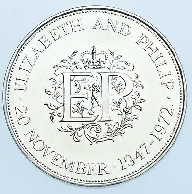 1972 Proof Crown British Coin From Elizabeth Ii Fdc