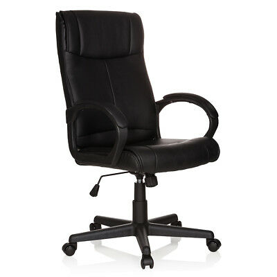 Executive Chair Black PILOT PU Leather big upholstered Office Chair Armrests