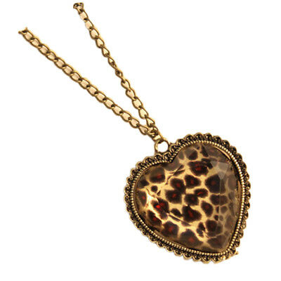 heart necklace for women Ladies Fashion jewelry Leopard Pendant Chain animal