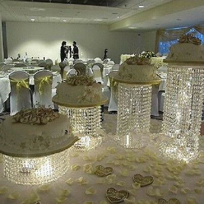 Crystal Cake Stand Wedding Centerpiece Display Party Event