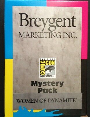 San Diego Comic Sdcc 2014 Breygent Marketing Mystery Packs - Women Of Dynamite