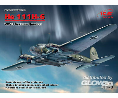 ICM 48262 He 111H-6, WWII German Bomber in 1:48